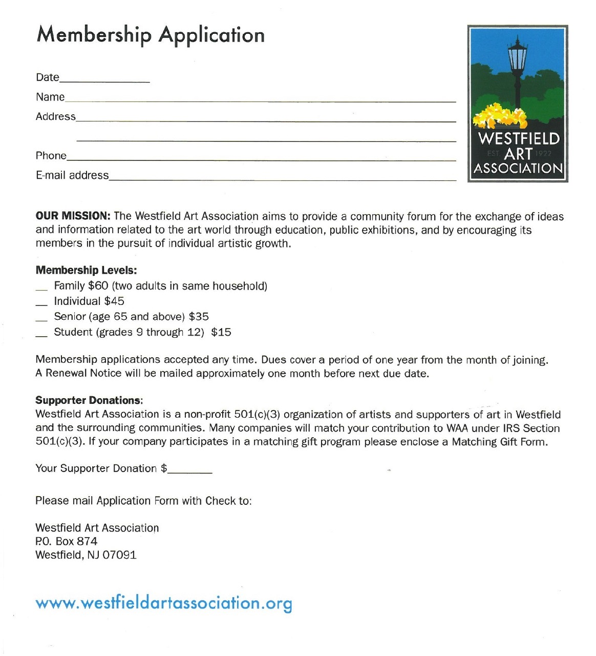 Become a member of waa westfield art association become a member of waa altavistaventures Choice Image